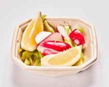 Pimientos verdes, rabanito y limón